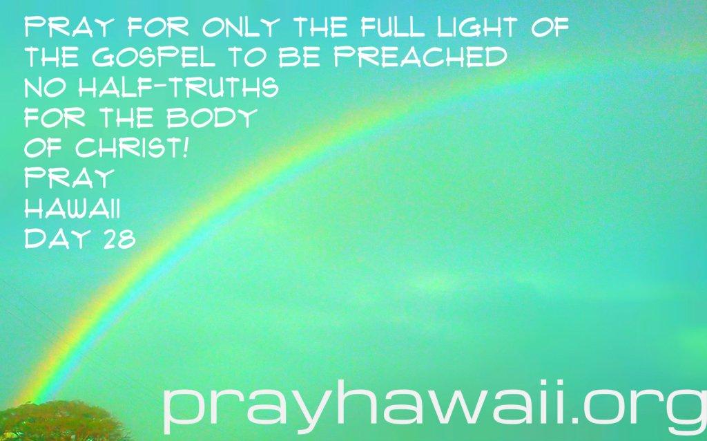 Pray Hawaii Day 28