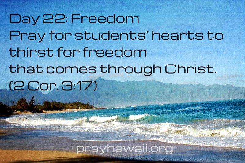 Pray-Hawaii-Nick Vujicic-Day 22