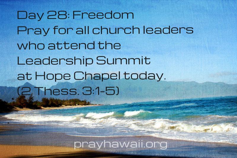 Pray-Hawaii-Nick Vujicic-Day 28