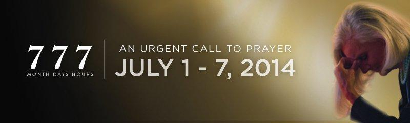 777 Urgent Call to Prayer Anne Graham Lotz